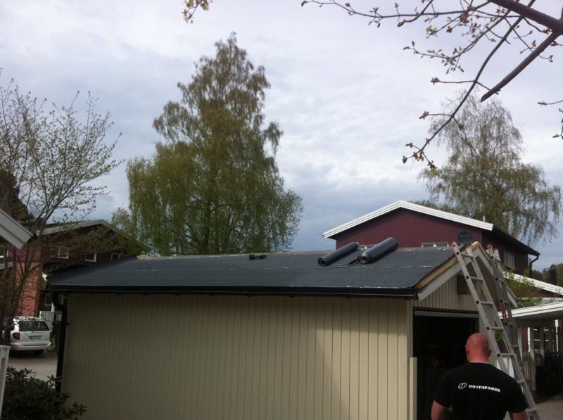 Byte av tak: Älta